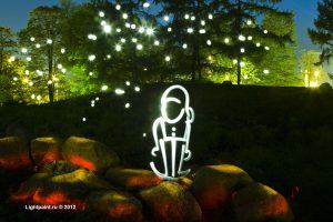 Lightpaint (фризлайт) - gnome