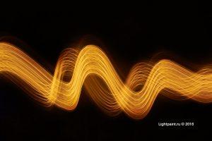 Golden lightpaint lines #1