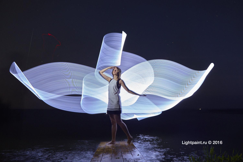 Lightpainting Russia lake Plesheevo