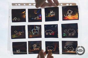 Рисование светом на позитивную среднеформатную пленку
